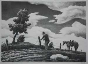 """Mending Fences"" By Thomas Hart Benton"