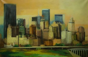"""Dallas Skyline - 1970"" By M. Munger"